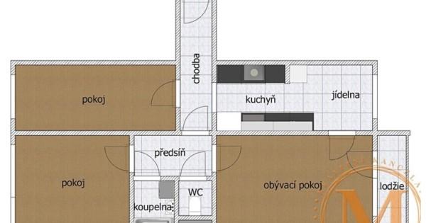 Bán căn hộ 3+1/ 75m2 tại phố Benkova. Praha 4 - Chodov.
