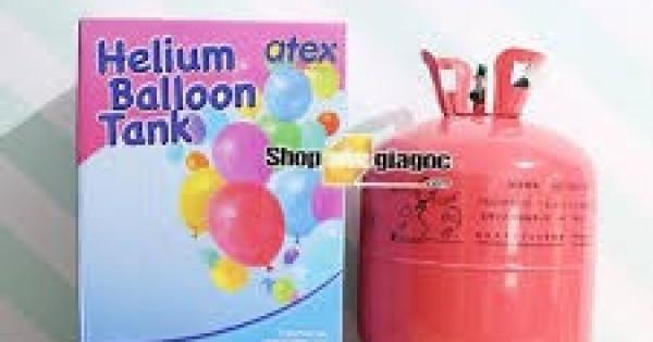 Bình khí helium nhỏ bơm bóng bay